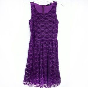 Green Envelope purple dress NWT